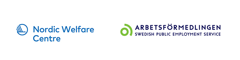 The logotypes for Nordic Welfare Centre and the Swedish Public Employment Service