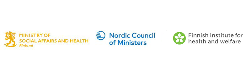 The logotypes for the Nordic Council of Ministers and the Finnish institute for health and welfare